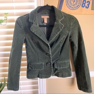Fitted Corduroy Olive Green Forever 21 Jacket